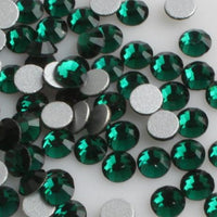 ss3/1mm Emerald Glass Round Flat Back Loose Rhinestones - 1440pcs