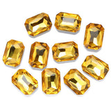 13x18mm Topaz Acrylic Emerald Pointback Chatons Rhinestones - 25pcs