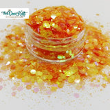 Honey Mixed Chunky Glitter, Polyester Glitter for Tumblers Nail Art Bling Shoes - 1oz/30g