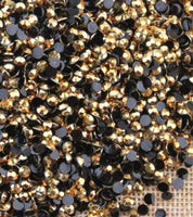 2-6mm Mixed Gold Jelly Resin Round Flat Back Loose Rhinestones