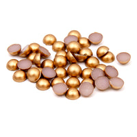 4mm Gold Matte Resin Round Flat Back Loose Pearls