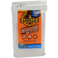 Gorilla Glue All Temperature 4 Inch Mini Glue Sticks - 30 Pack