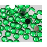 5mm Green Resin Round Flat Back Loose Rhinestones