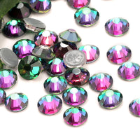 SS20/5mm Green Volcano Glass Round Flat Back Loose Rhinestones - 1440pcs