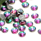 SS6/2mm Green Volcano Glass Round Flat Back Loose Rhinestones - 1440pcs
