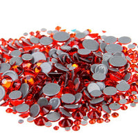 SS12/3mm Orange Glass Round Flat Back Loose HOTFIX Rhinestones - 1440pcs