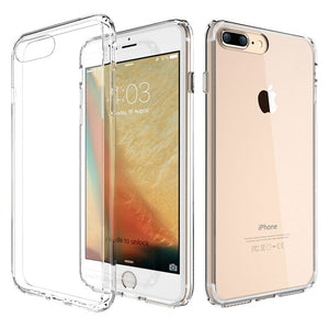 iPhone 7 & 8 PLUS Phone Case, Clear Hard Plastic Phone Case