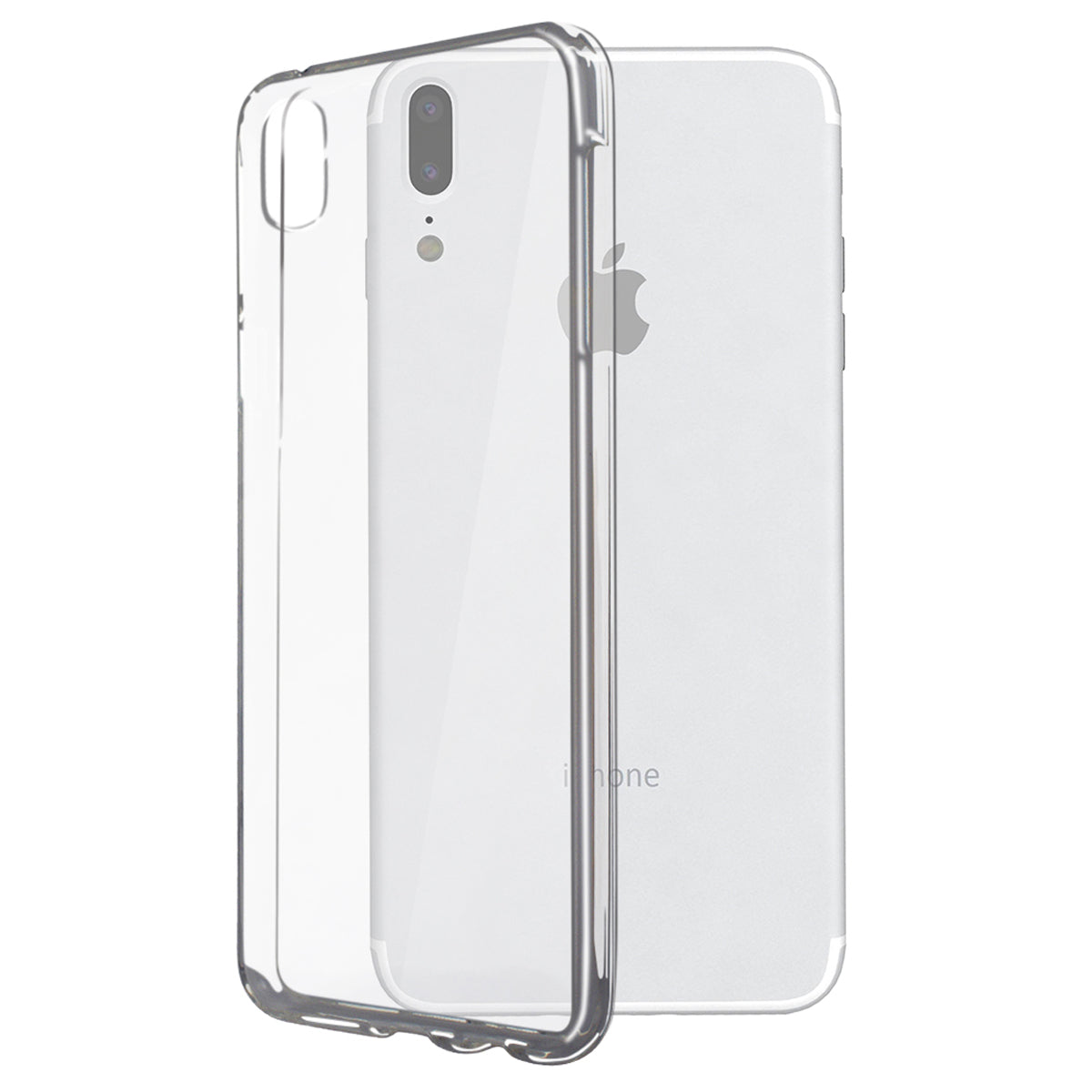 buy popular 0f570 1090e iPhone X 10 Phone Case, Clear Hard Plastic Phone Case