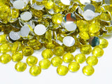 2mm Bright Yellow Citrine Resin Round Flat Back Loose Rhinestones
