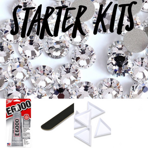 Bling Starter Kits: Rhinestone Picker, E6000 Adhesive, Sorting Trays, Glass Rhinestones, Sanding File