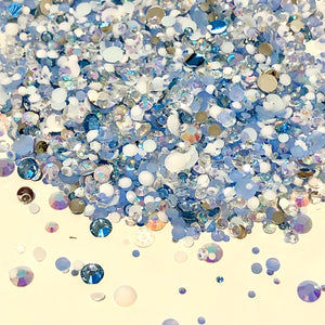 2-6mm Mix Wynter Wonderland Resin Jelly Round Flat Back Loose Rhinestones