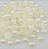 3mm Ivory Resin Round Flat Back Loose Pearls - 5000pcs