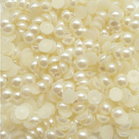 7mm Ivory Resin Round Flat Back Loose Pearls
