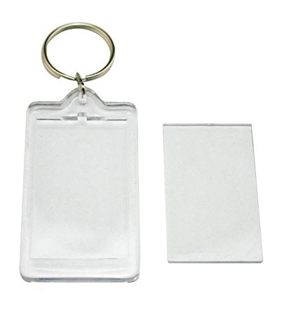 Keychains , Clear Hard Plastic Keychains