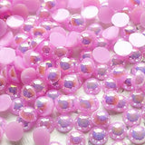 2-10mm Mixed Light Purple AB Flatback Half Round Pearls - 30 grams / 500 pieces - Loose, Bling, Nail Art, Decoden TDK-P059 - TheDecoKraft - 1