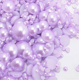 2-10mm Mixed Light Purple Flatback Half Round Pearls - 30 grams / 500 pieces - Loose, Bling, Nail Art, Decoden TDK-P079 - TheDecoKraft