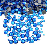 SS6/2mm Capri Blue Glass Round Flat Back Loose Rhinestones - 1440pcs