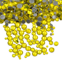 SS6/2mm Citrine Yellow Glass Round Flat Back Loose HOTFIX Rhinestones - 1440pcs