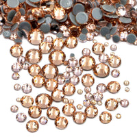 Mixed Champagne Glass Round Flat Back Loose HOTFIX Rhinestones - 400pcs