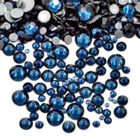 SS12/3mm Montana Navy Blue Glass Round Flat Back Loose HOTFIX Rhinestones - 1440pcs