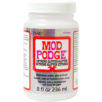 Mod Podge All-In-One Sealer, Glue and Extreme Glitter Finish - 8 oz.