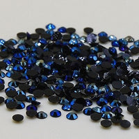 4mm Navy Blue AB Jelly Resin Round Flat Back Loose Rhinestones