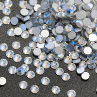 SS16/4mm Northern Light AB Glass Round Flat Back Loose Rhinestones - 1440pcs