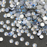 SS6/2mm Northern Light AB Glass Round Flat Back Loose Rhinestones - 1440pcs