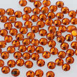 3mm Orange Resin Round Flat Back Loose Rhinestones