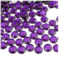 2-6mm Mixed Purple Resin Round Flat Back Loose Rhinestones