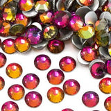 SS12/3mm Red Rainbow Glass Round Flat Back Loose Rhinestones - 1440pcs