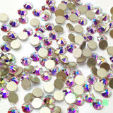 SS12/3mm Crystal AB Glass Round Flat Back Loose Rhinestones