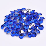 16mm Royal Blue Acrylic Round Pointback Chatons Rhinestones - 25pcs