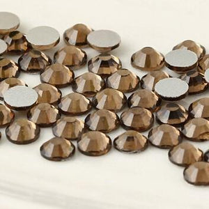 SS6/2mm Smoked Topaz Glass Round Flat Back Loose Rhinestones - 1440pcs