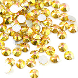 SS16/4mm Sunshine Glass Round Flat Back Loose Rhinestones - 1440pcs