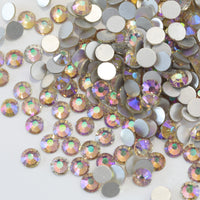 SS12/3mm Transparent Amethyst Glass Round Flat Back Loose Rhinestones - 1440pcs