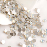 SS12/3mm White Opal Glass Round Flat Back Loose Rhinestones - 1440pcs