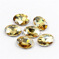 10x14mm Champagne Glass Oval Pointback Chatons Rhinestones