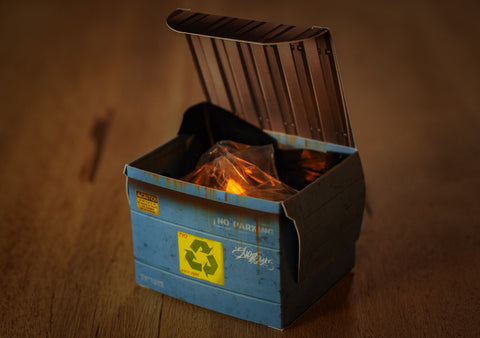 Dumpster Fire Tealight