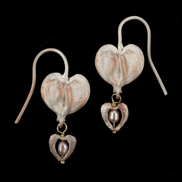 Bleeding Heart Earrings - Wire Drop