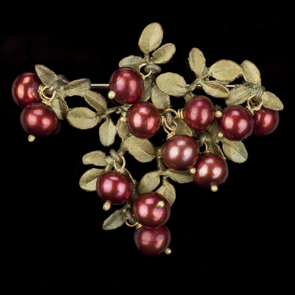 Cranberry Brooch