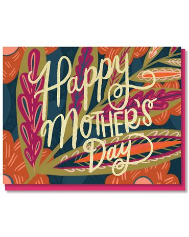 Leaves and Blooms Mom Card