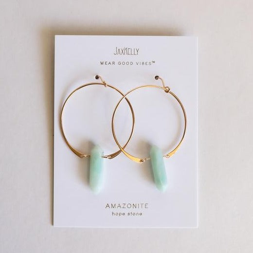 Vibes Crystal Hoops