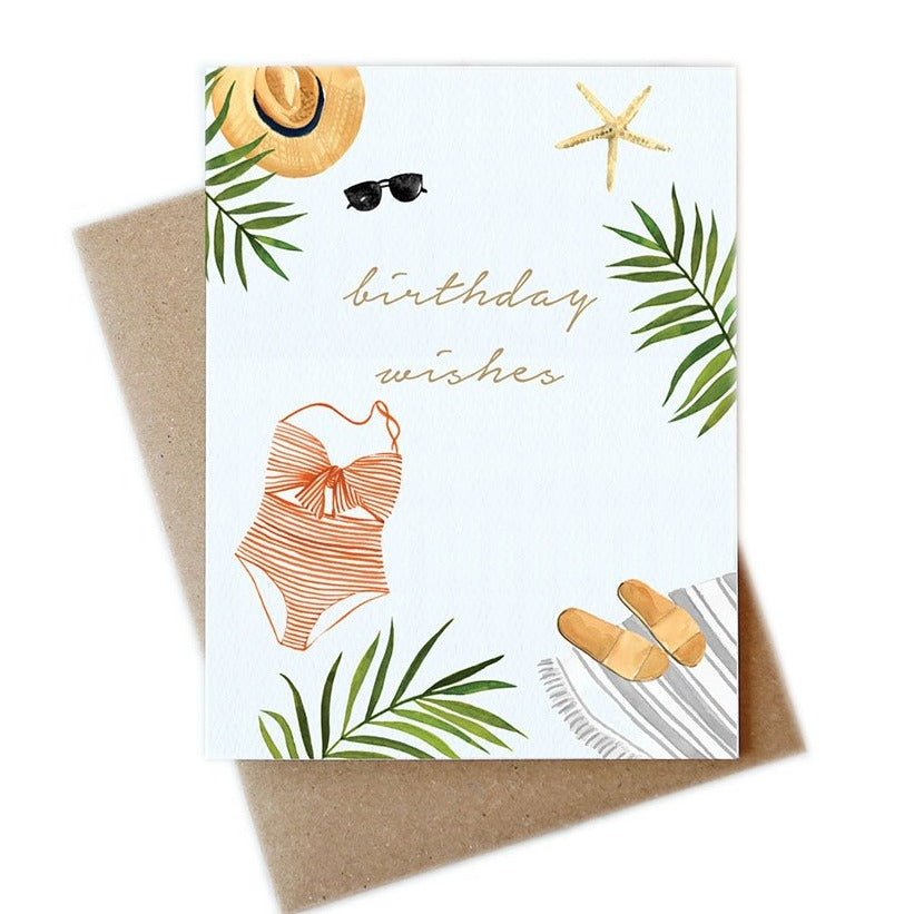 Beach Wishes Birthday Card