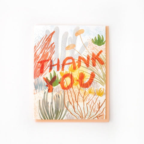 Desert Brush Thank You Card