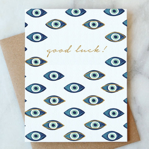 Evil Eye Good Luck Card