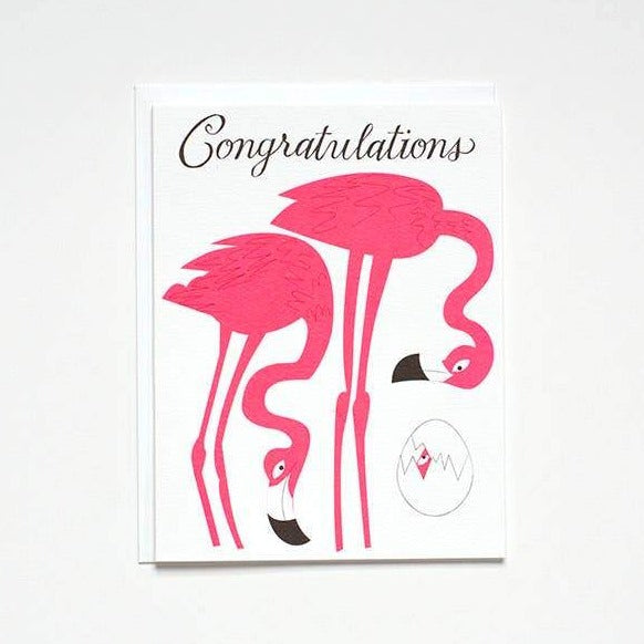 Flamingo Baby Congrats Card