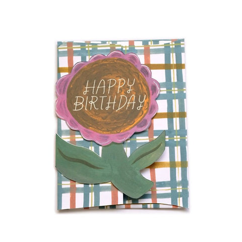 Flower Bday Die Cut Card
