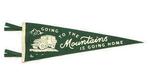 Going to the Mountains Pennant