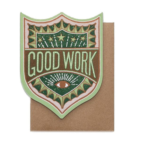 Good Work Badge Card